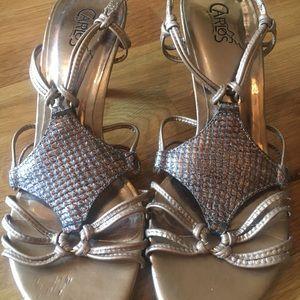 Carlos Santana gold metallic sandal